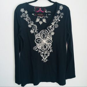 Johnny Was Embroidered Top